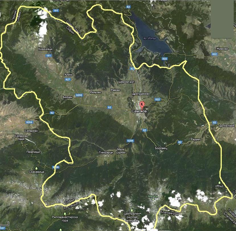 карта на обсхтината