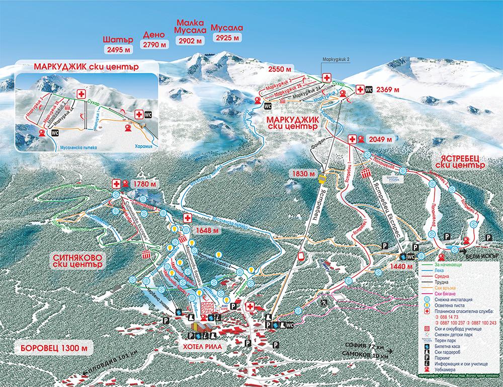 Карта на курорта